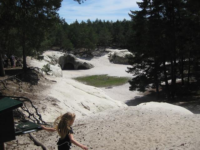 Sandhoehlen Blankenburg Sandsteinhoehlen Sand im Wald