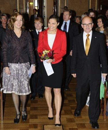 Crown Princess Victoria attended a seminar of Syria hosted by the United Nations Association of Sweden in Stockholm