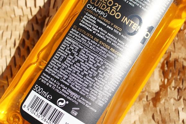 champu oleo 21 syoss mercadona ingredientes INCI