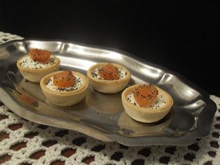 Tartaletas de queso crema y membrillo