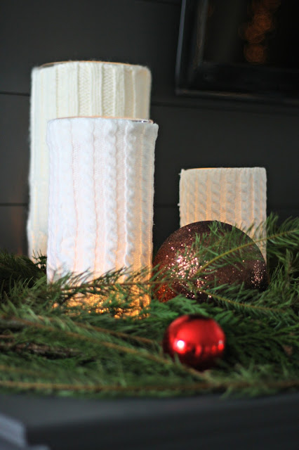 sweater candleholders with second hand sweaters
