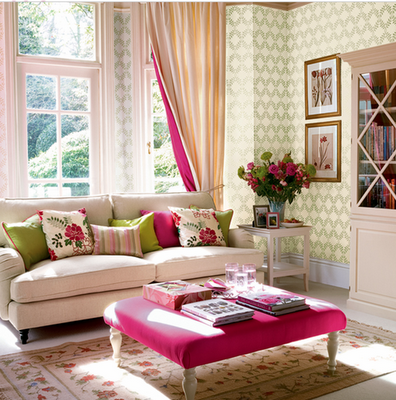 California Livin Home: Eye Candy ~*~ Pink & Green Rooms to ...