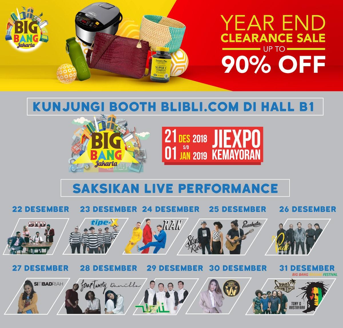 #BliBli - Promo Diskon 90% di Booth BliBli JIEXPO Kemayoran (s.d 01 Jan 2019)