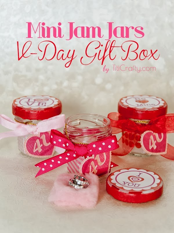Mini Jam Jars Valentine's Gift Box