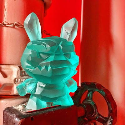 Designer Con 2017 Exclusive OG Translucent Blue Shard Dunny Resin Figure by Scott Tolleson x Kidrobot