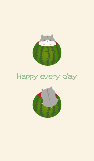 Hamster watermelon