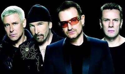 Rostros de integrantes de U2