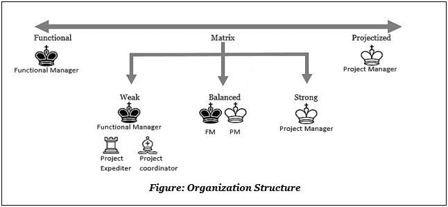below shows a simple diagram to remember the organizational structures