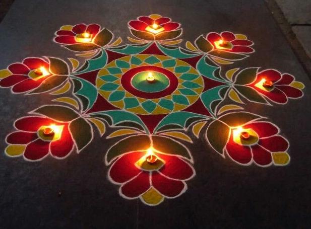 Diwali Images with Rangoli 2017