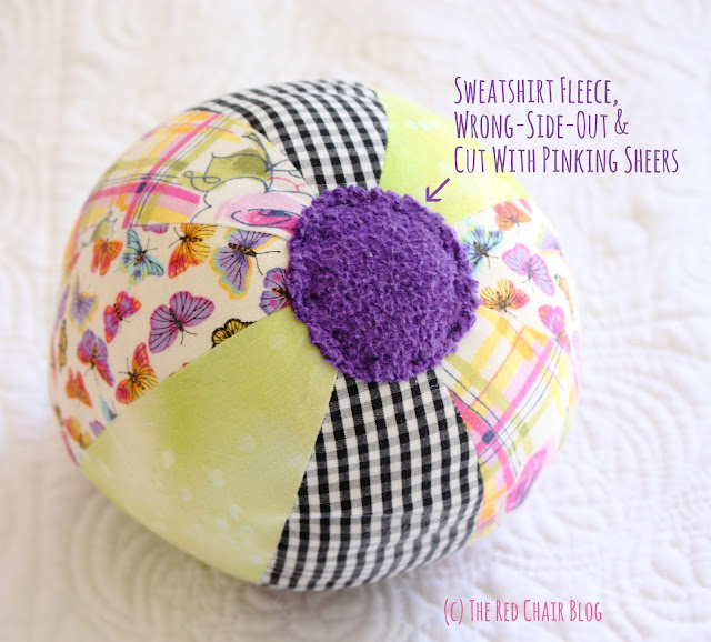 DIY cloth beach ball great baby gift and easy to sew from The Red Chair Blog