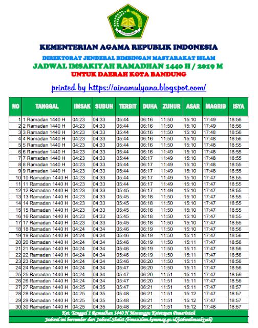Jadwal Imsakiyah Ramadhan 2019 Batam - All Best Desktop ...