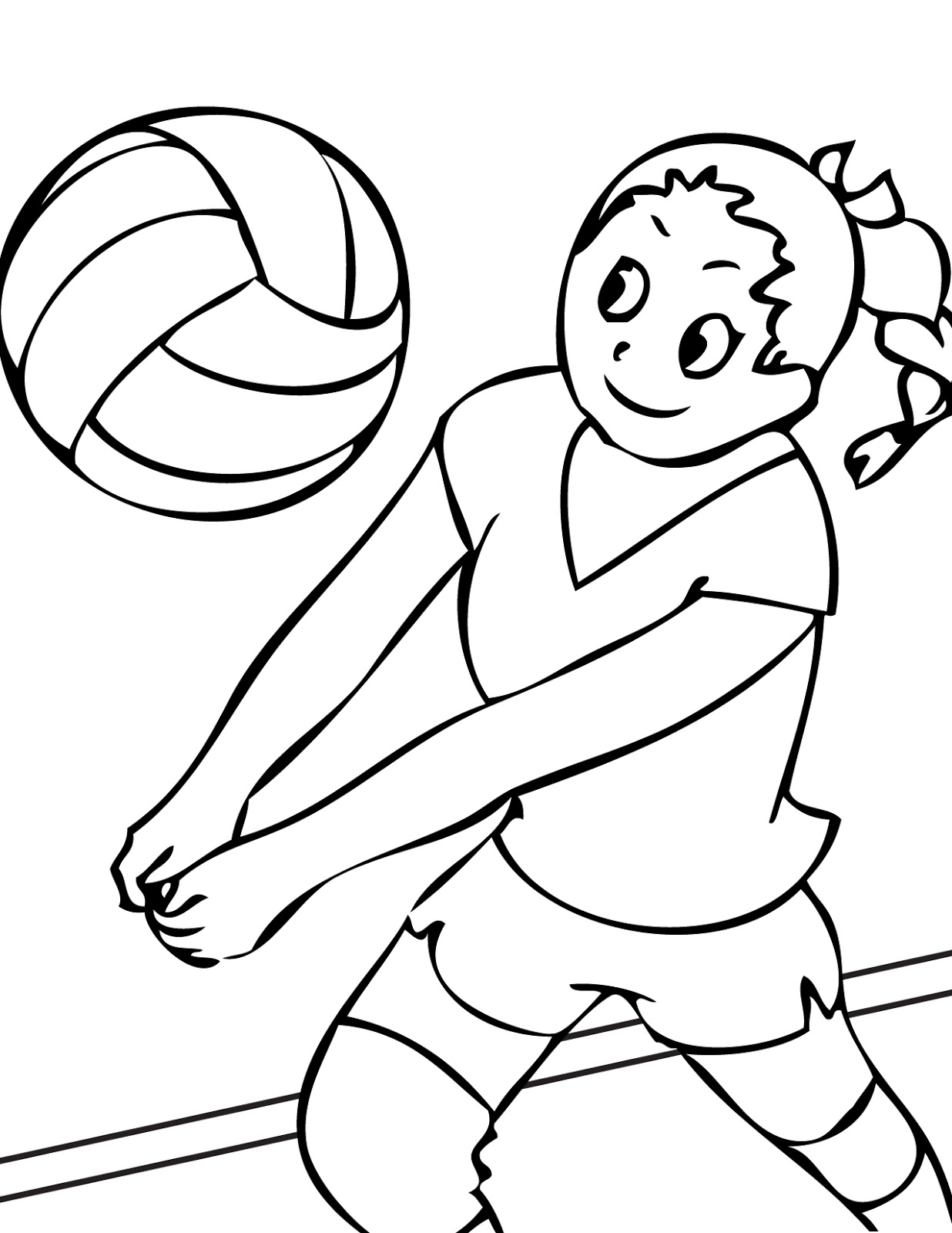 printable volleyball coloring pages - photo#25