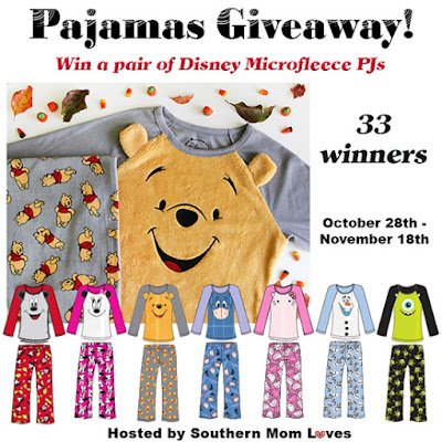 Enter the  Disney Microfleece PJs Giveaway. Ends 11/18