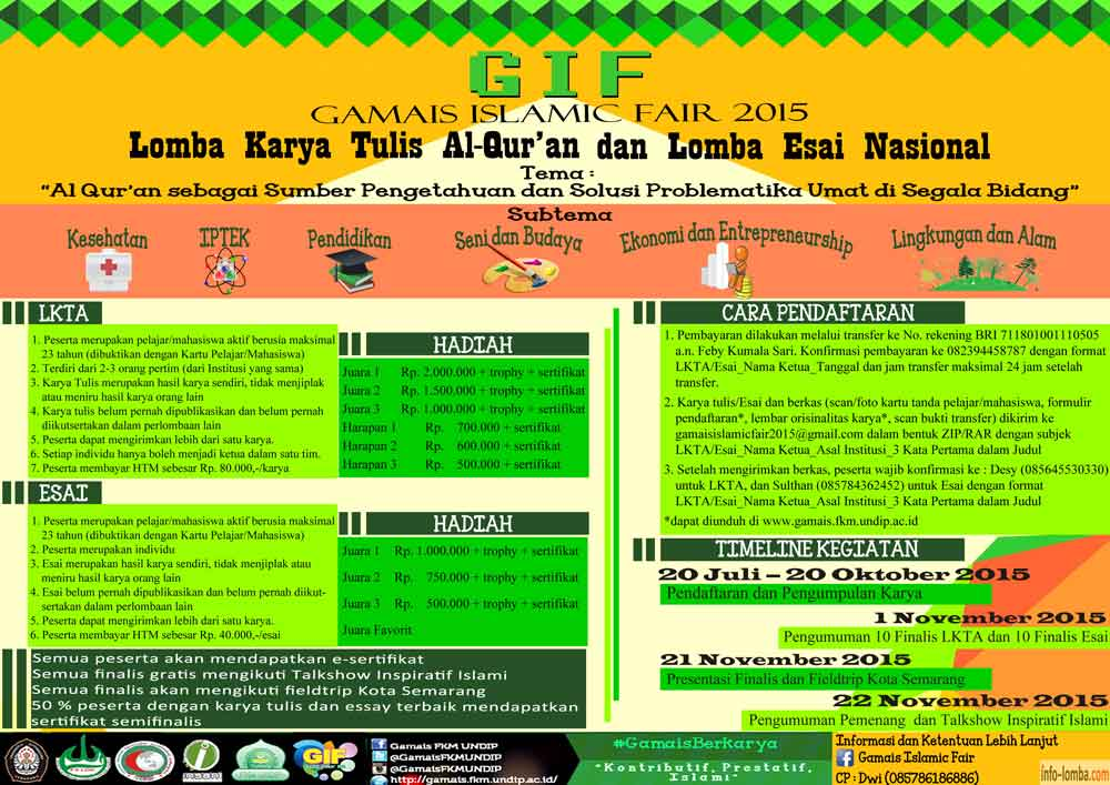 Lomba Esai Nasional Gamais Islamic Fair 2015