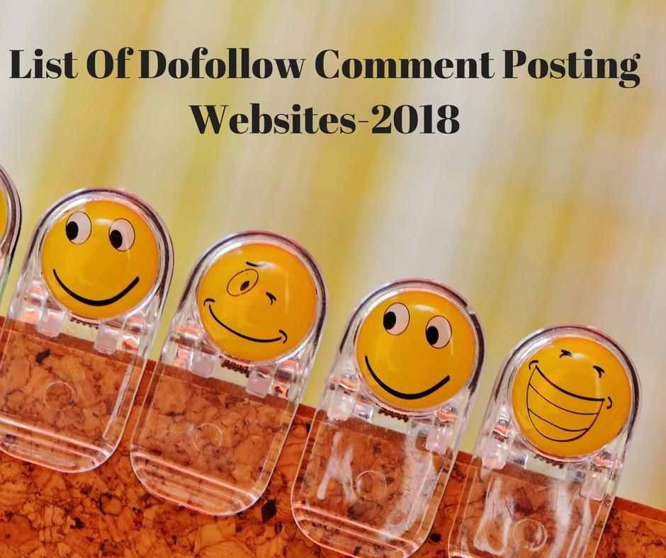 Instant Approved Comment Posting Sites List 2018 - Sagar SEO