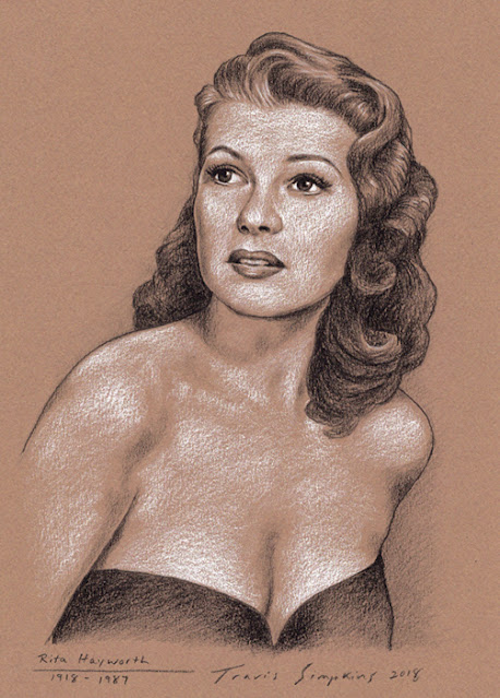Rita Hayworth. 1918-1987. Hollywood Actress. by Travis Simpkins