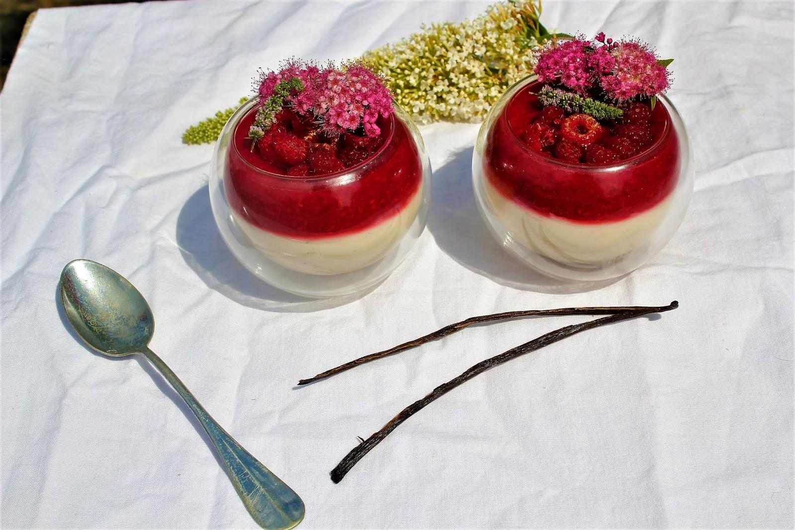 Thegarden of delights panna cotta aux framboises vegan sans gluten - Panna cotta sans gelatine ...