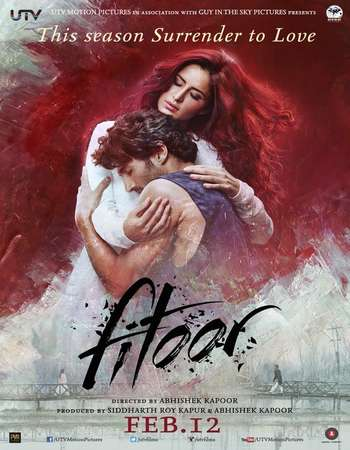 Poster Of Fitoor 2016 Hindi 700MB DVDRip ESubs Free Download Watch Online
