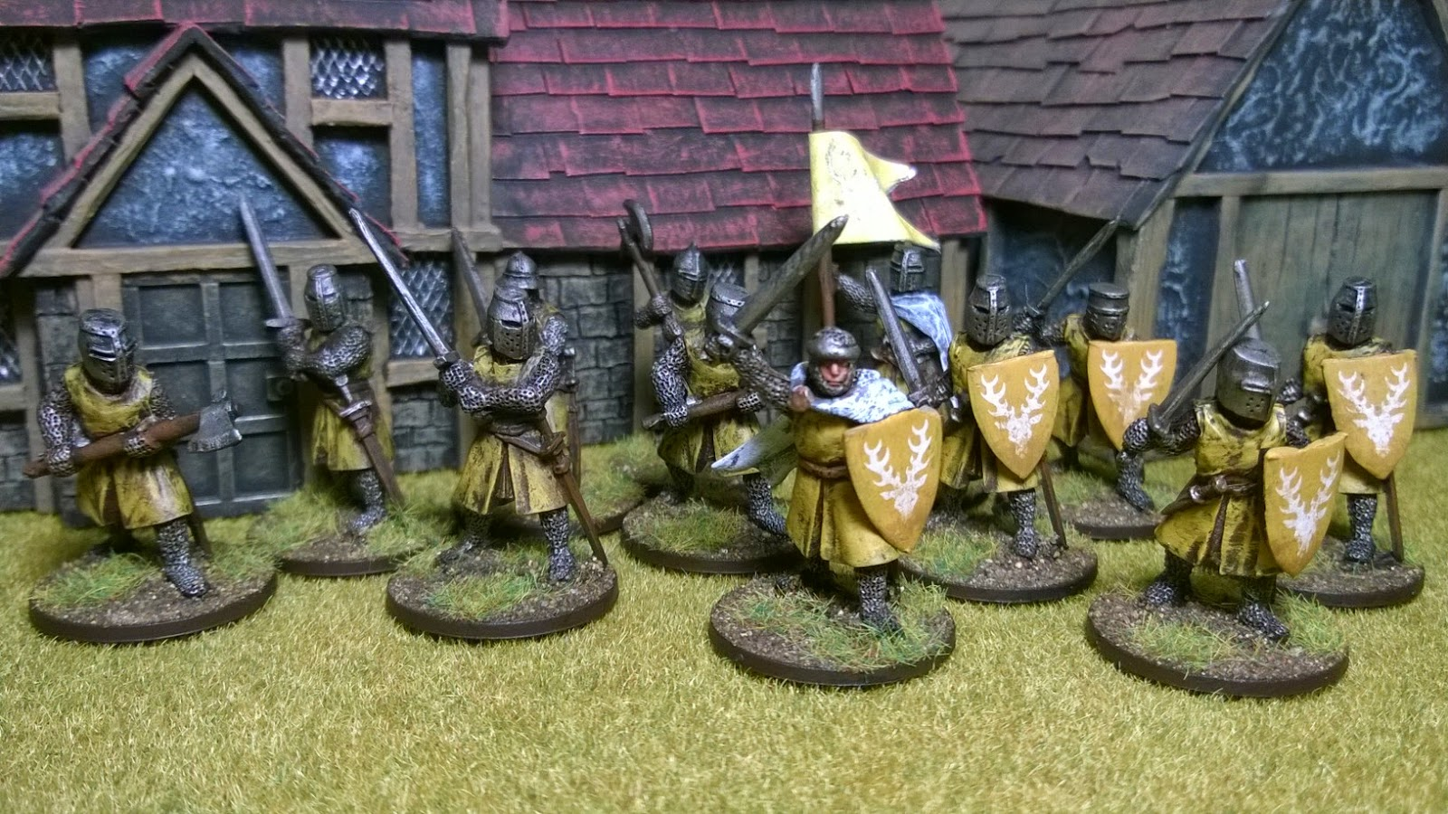 lion's rampant men at arms foot paint colour banner