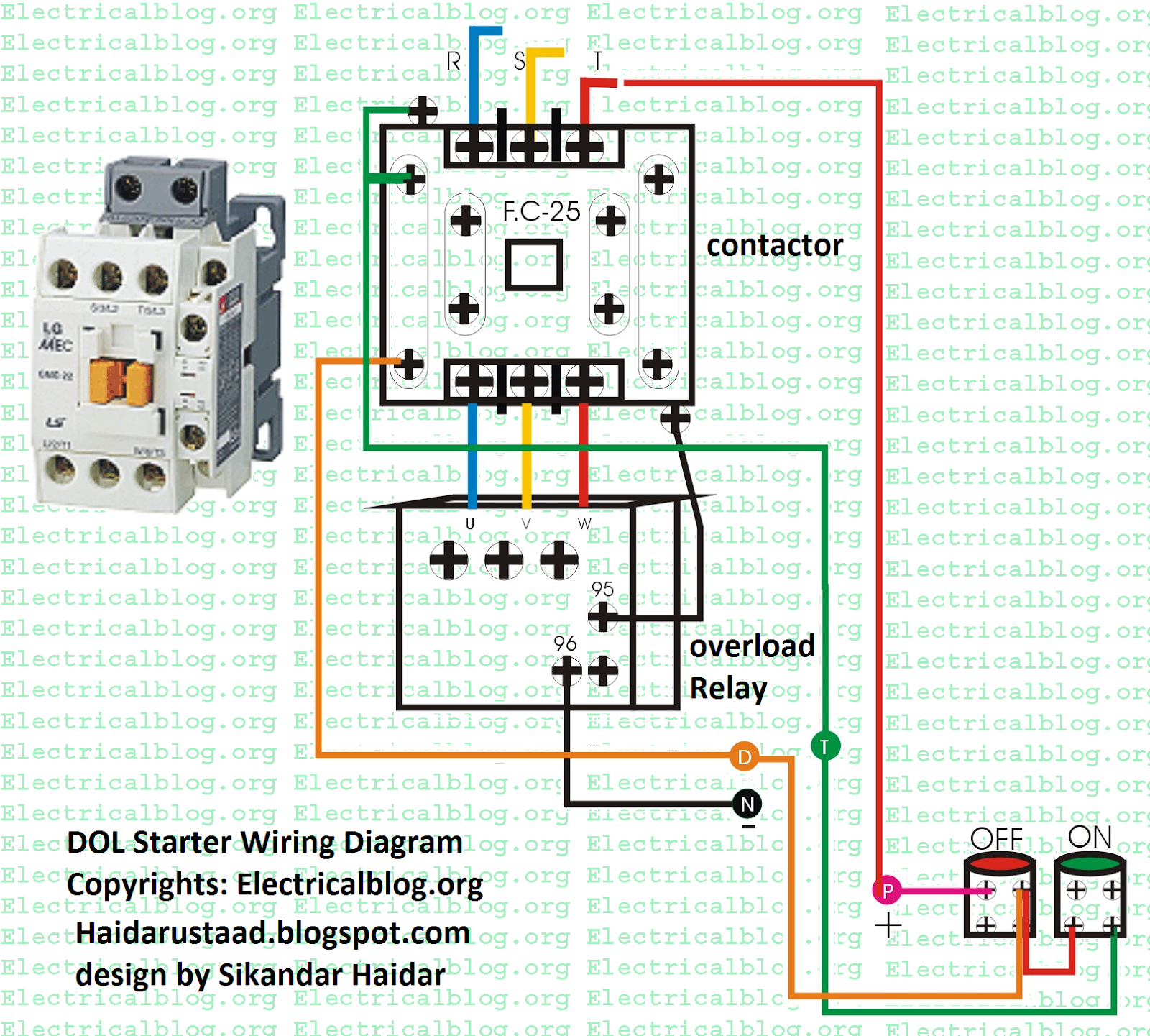 Direct Online Starter Wiring Diagram  U00ab Electrical And Electronic Free Learning Tutorials