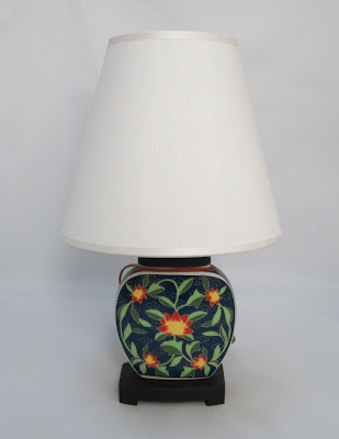 Japanese Porcelain Lamp with Shade