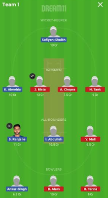 AA vs SS Dream 11 Team