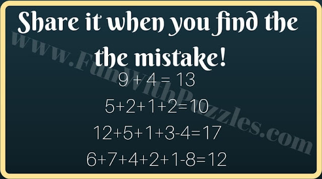 Picture puzzle to find mistake in image