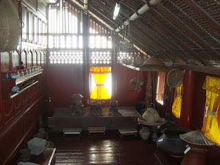 Ruang Belakang pada Krong Bade (Rumah Adat Aceh)