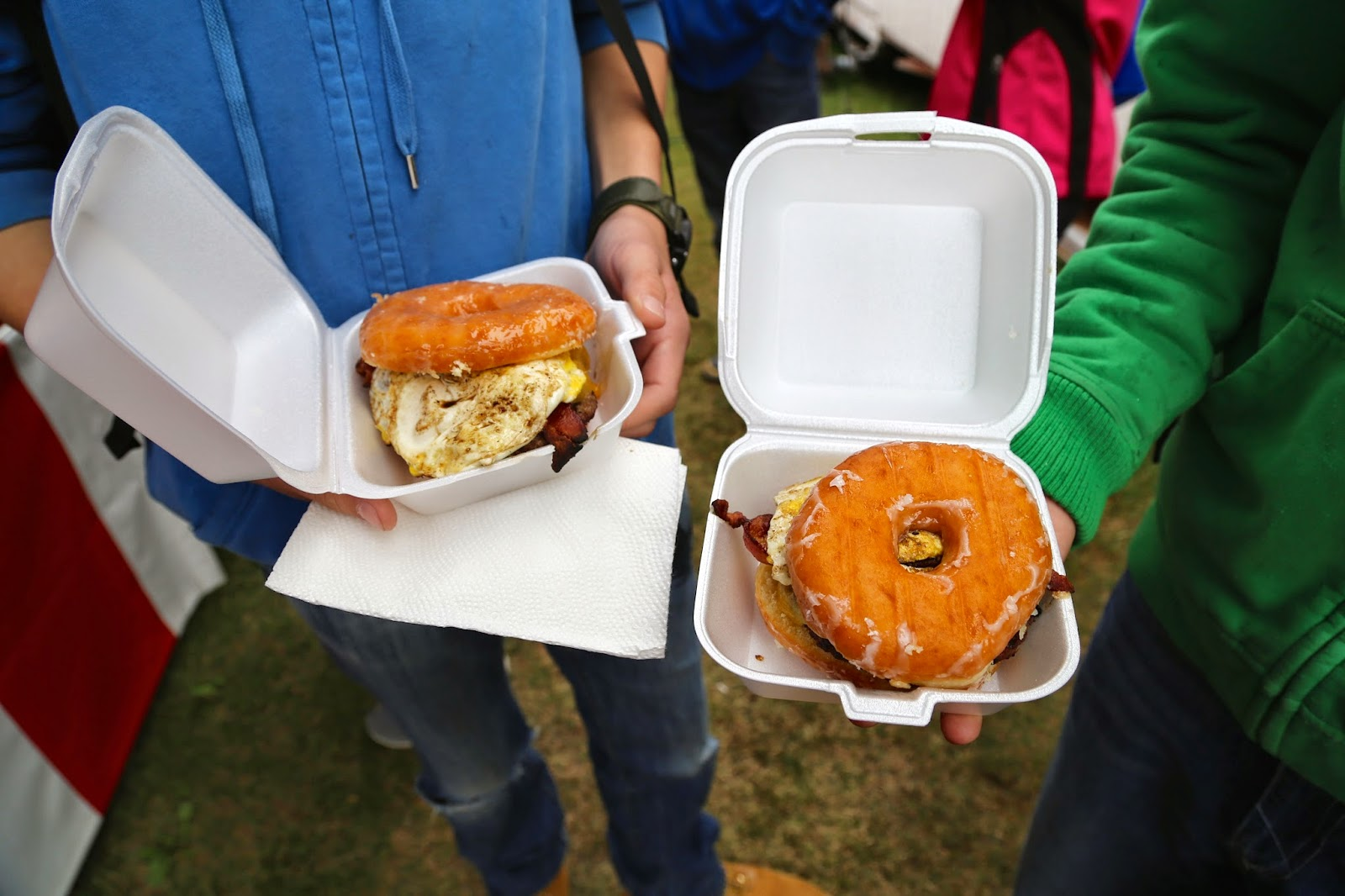 Donut burger, Alaska State Fair