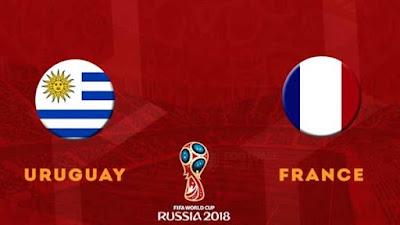 موعد عرض مباراة أوروجواي وفرنسا  بتاريخ 06-07-2018 كأس العالم 2018 والقنوات الناقلة لها