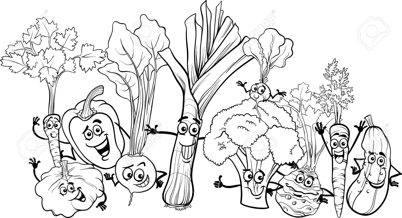 Free Coloring Pages Of Vegetable Gardens Fruit And Vegetable Coloring Pages