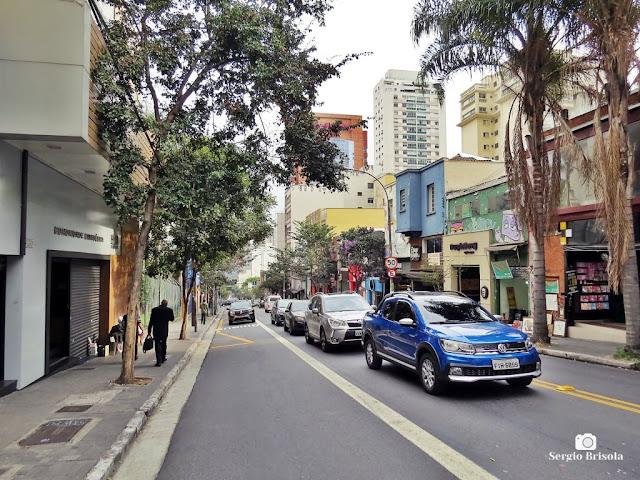 Vista de trecho da Rua Augusta - Cerqueira César - São Paulo