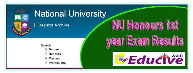 NU Homours 1st year exam results