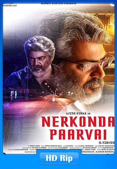 Nerkonda Paarvai 2019 Tamil 720p HDRip ESubs | 480p 300MB | 100MB HEVC Poster
