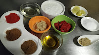 Red Chilly powder salt Cumin powder Garam masala Chat masala Kashmiri chilly paste, yogurt ginger garlic paste oil lemon juice food recipe