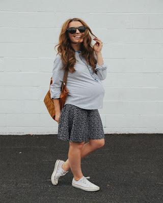 outfit casual para embarazadas