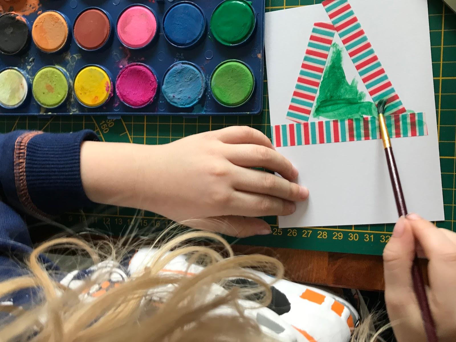 Weihnachtskarten selber basteln mit Kindern - Easypeasy DIY ...