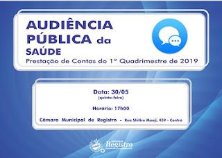 Audiência Pública da Saúde em Registro-SP