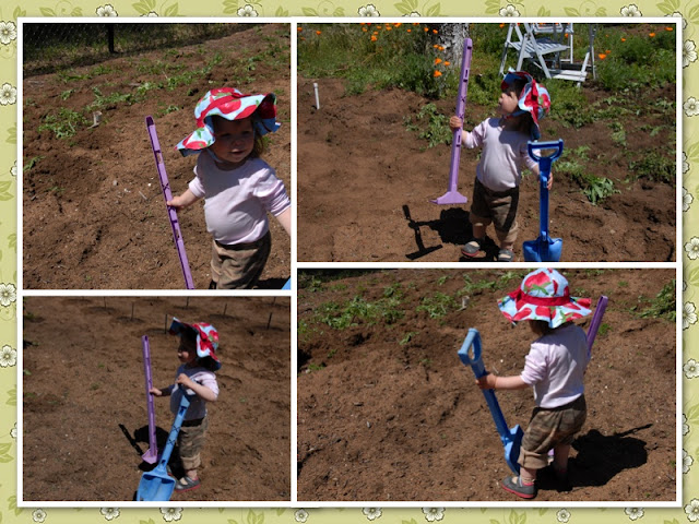 Granddaughter planting a garden: LadyD books