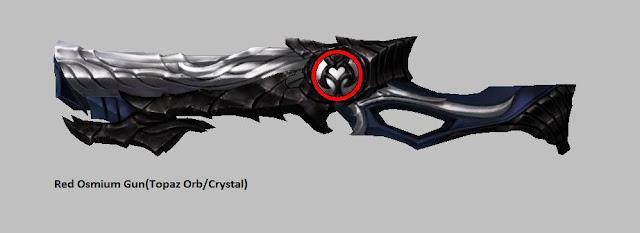 Red Osmium Gun [Topaz Orb] Force Gunner