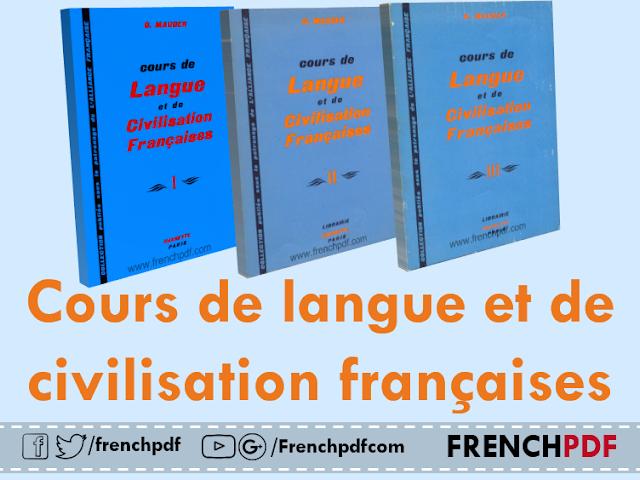 Télécharger tous les tomes de livre: Cours de langue et de civilisation françaises pdf