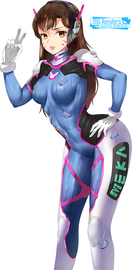 Tags: Anime, Render,  Bodysuit,  D.Va (Hana Song),  Overwatch, PNG, Image, Picture