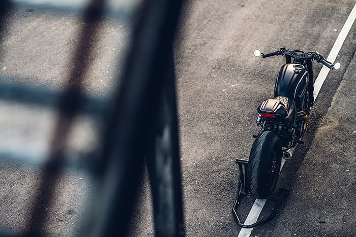 Rough Crafts cafe racer Scrambler Ducati overhead