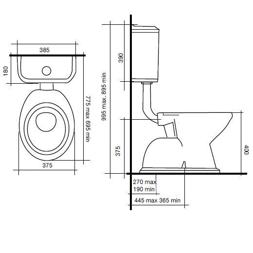 Modecor Toilet Suites Posh Canterbury Low Level Connector