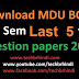 BCA 1st Sem Last 5 Year Question Papers of  Mdu