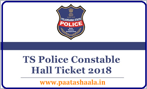 TS Police Constable Hall Ticket 2018 Download @ tslprb.in/2018/09/ts-police-constable-hall-ticket-initial-final-keys-2018-results-download-tslprb.in.html