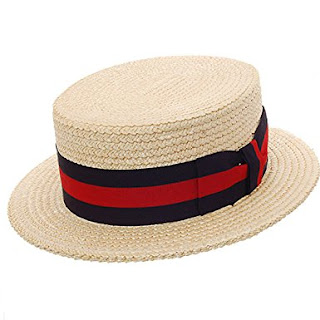 Belfry Gondola - Traditional Straw Boater Skimmer Hat