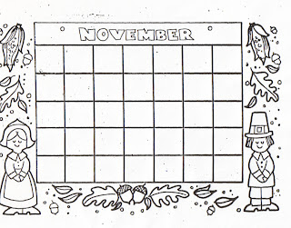 Kat's Almost Purrfect Home: Free Blank Calendars to Color