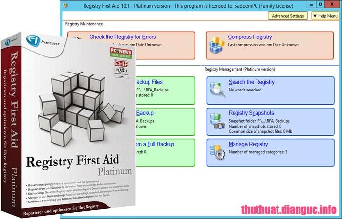 Download Registry First Aid Platinum 11.3.0.2576 Full Crack, phần mềm mạnh mẽ để dọn dẹp registry, Registry First Aid Platinum, Registry First Aid Platinum free download, Registry First Aid Platinum full key