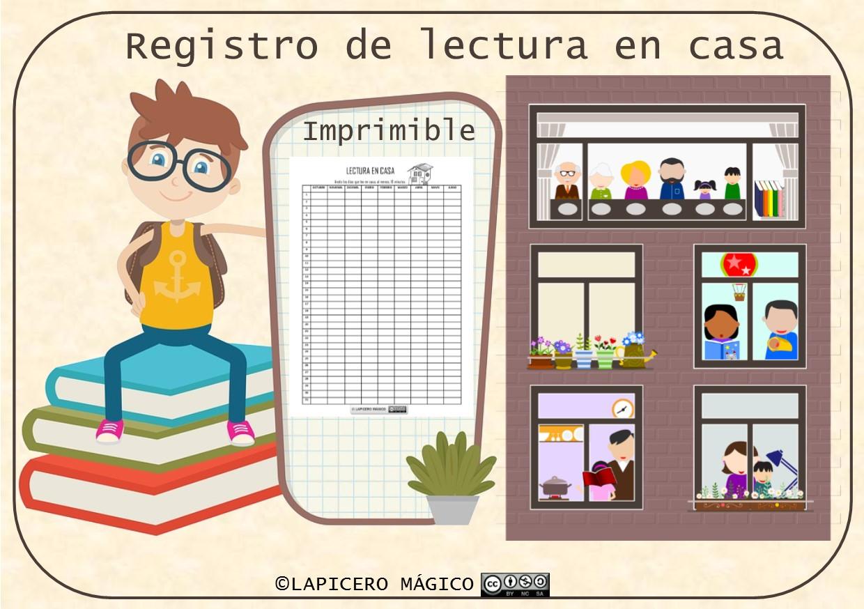 LAPICERO MÁGICO: Lectura en casa: registro diario